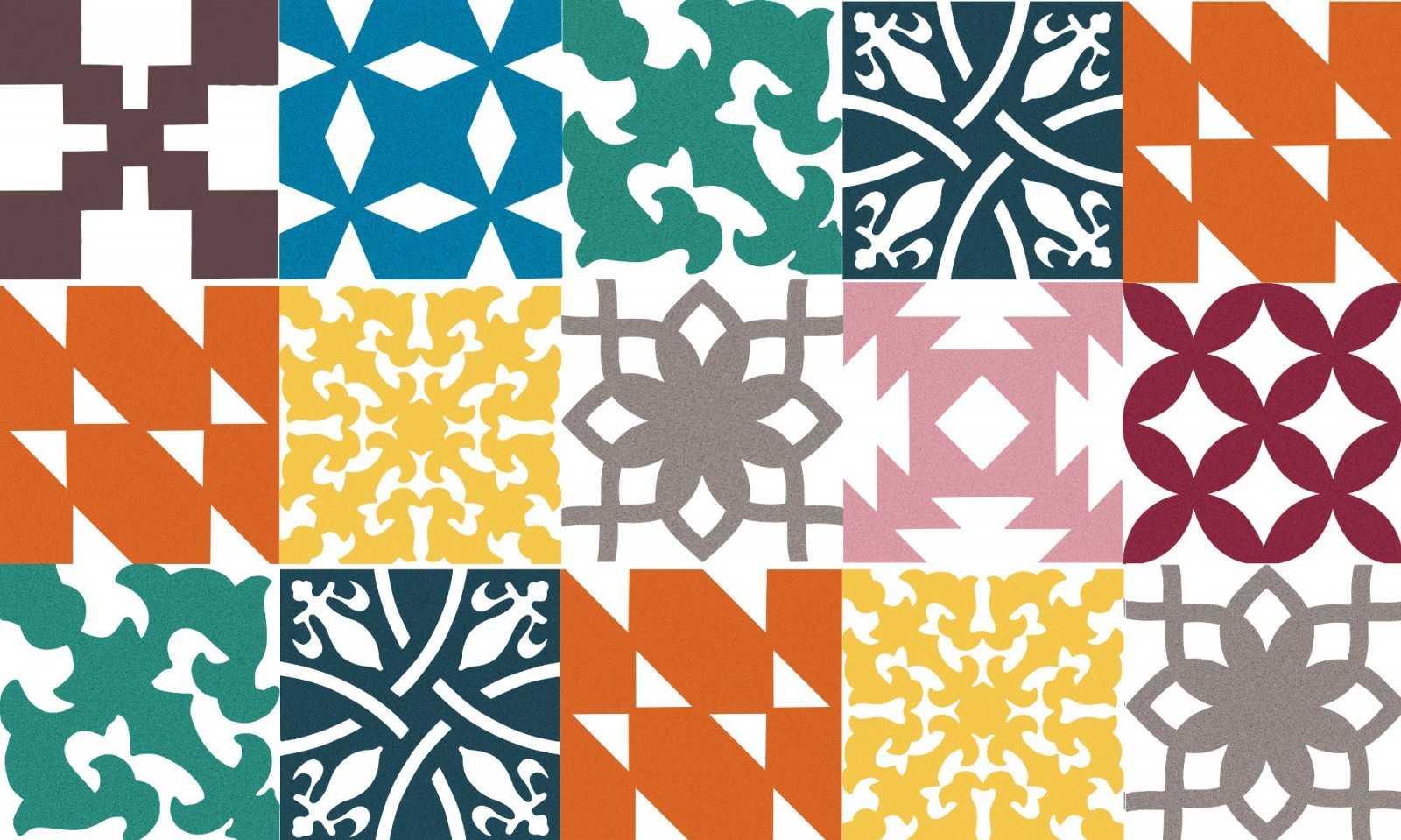Patchwork Pattern Tiles Sustainable Materials