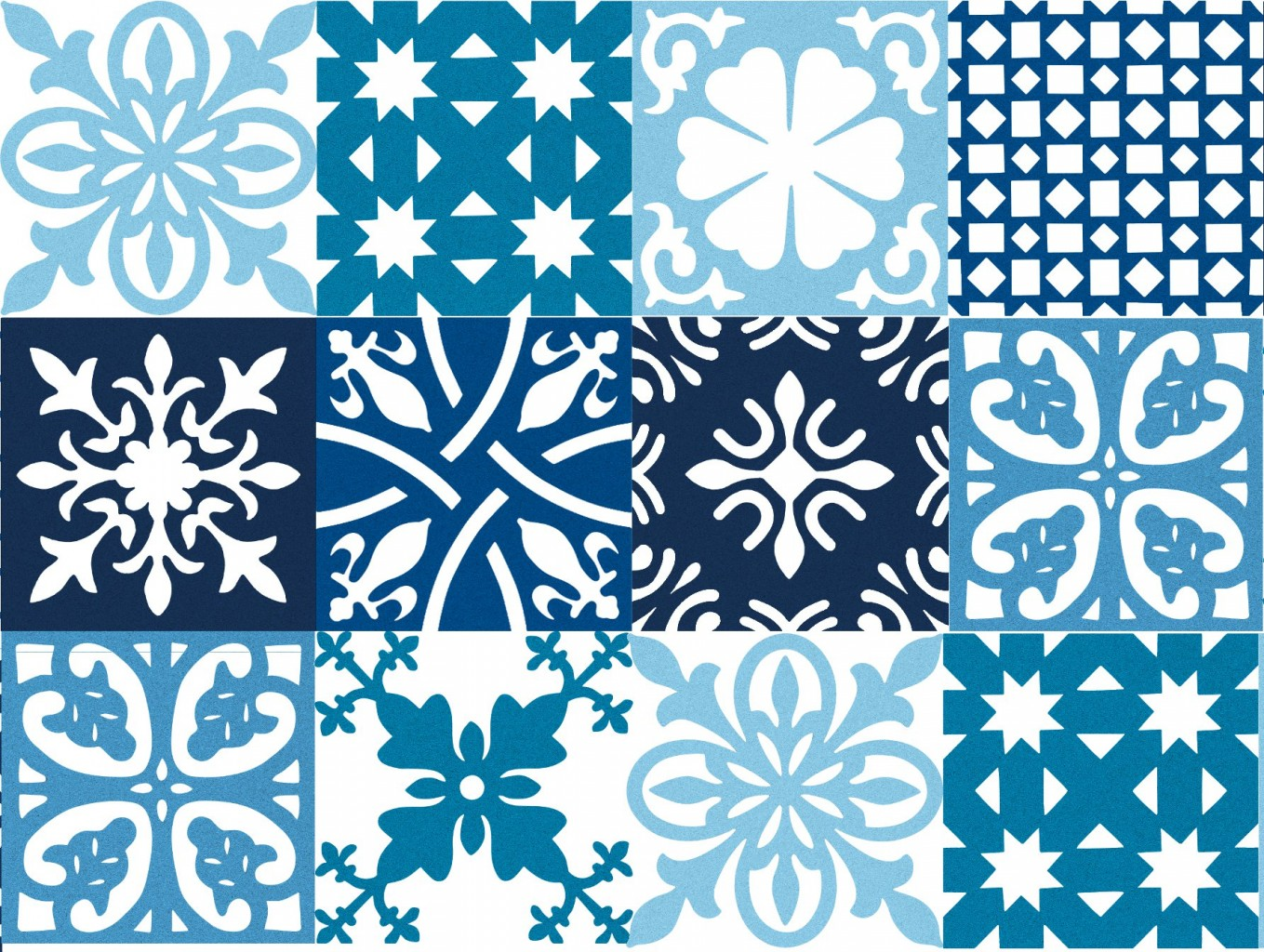 Patchwork Pattern Tiles - Sustainable Materials